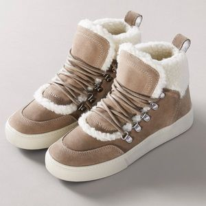 Marc Fisher Fur Sneakers
